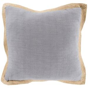 Gray, Mocha (JF-003) Transitional Pillow Jute Flange Solid Pillow