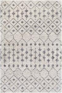 Cream, Beige, Medium Grey (FLC-8011) Falcon 26198 Moroccan Area Rugs