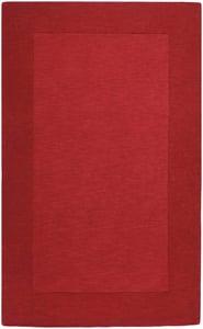 Dark Red (M-299) Mystique Border Contemporary / Modern Area Rugs