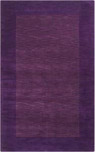 Violet, Dark Purple (M-349) Mystique Border Contemporary / Modern Area Rugs
