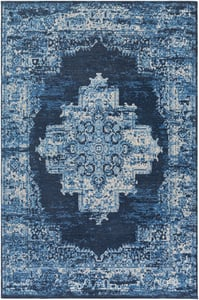 Navy, Sky Blue, Camel (AMS-1024) Amsterdam 26064 Vintage / Overdyed Area Rugs