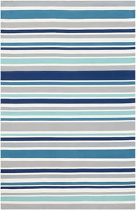 Grey, Dark Blue, Taupe (MTM-1011) Maritime Stripes Striped Area Rugs