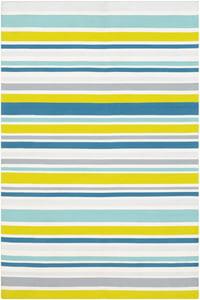 Lime, Aqua, White (MTM-1012) Maritime Stripes Striped Area Rugs