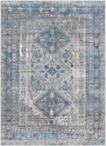 Light Grey, Charcoal, Sky Blue (MNC-2312) Monte Carlo Campagna Contemporary / Modern Area Rugs