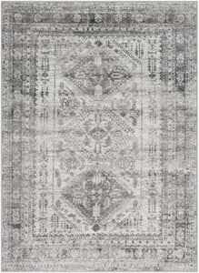 Light Grey, White, Charcoal (MNC-2314) Monte Carlo Campagna Contemporary / Modern Area Rugs