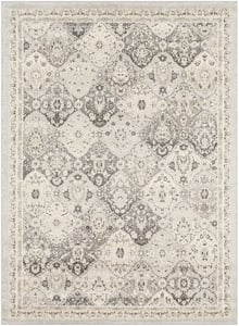 Light Gray, Charcoal, Camel, Beige (MRC-2315) Morocco Ikat Traditional / Oriental Area Rugs