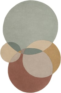 Sage, Khaki, Tan (BCK-1006) Beck 23263 Contemporary / Modern Area Rugs
