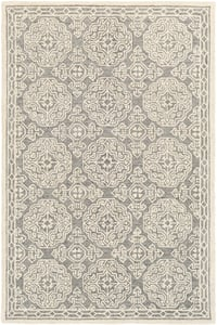 Grey, Ivory (GND-2304) Granada 23803 Traditional / Oriental Area Rugs
