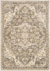 Khaki, Brown (TUS-2308) Tuscany 23936 Traditional / Oriental Area Rugs