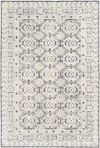 Black, Ivory (LOU-2303) Louvre 23815 Contemporary / Modern Area Rugs
