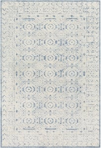 Blue, Ivory (LOU-2304) Louvre 23815 Contemporary / Modern Area Rugs