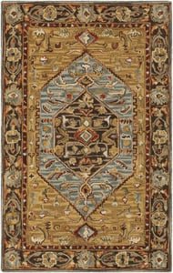 Brown, Gold, Sage (AES-2304) Artemis 23592 Traditional / Oriental Area Rugs