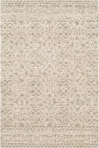 Taupe, Cream (NCS-2309) Newcastle 23669 Contemporary / Modern Area Rugs