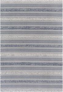 Blue, Cream, Taupe (LCS-2311) La Casa 24956 Bohemian Area Rugs