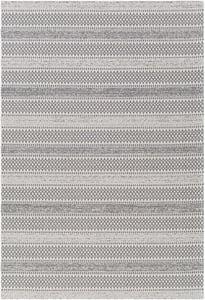 Silver, Charcoal, Ivory (LCS-2309) La Casa 24956 Bohemian Area Rugs