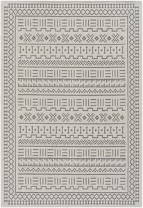 Taupe, Charcoal (LCS-2302) La Casa 24962 Contemporary / Modern Area Rugs