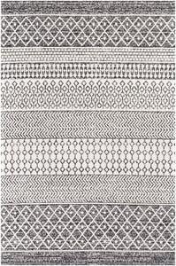 Black, Cream (LCS-2306) La Casa 24964 Moroccan Area Rugs