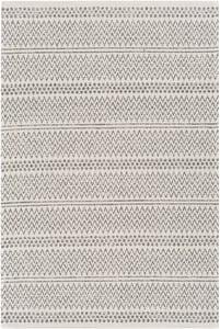 Charcoal, White, Silver Grey (LCS-2303) La Casa 24965 Contemporary / Modern Area Rugs