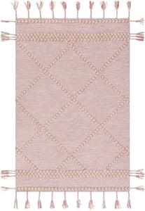 Rose, Cream (ZTS-2310) Zanafi Tassels 24568 Bohemian Area Rugs