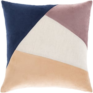 Eggplant, Beige, Peach (MZA-001) Moza Pillow 24617 Contemporary / Modern Pillow