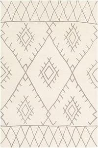 Medium Gray, Cream (SOU-2301) Souk 24253 Moroccan Area Rugs