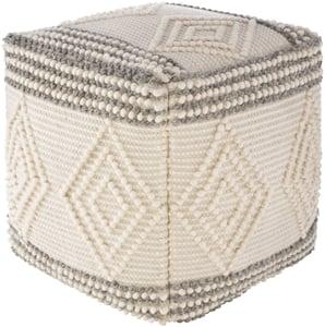 Charcoal, White (HGPF-003) Hygge Pouf 24522 Moroccan Poufs