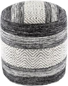 Beige, Black, White (IVPF-003) Levi Pouf 26181 Contemporary / Modern Poufs
