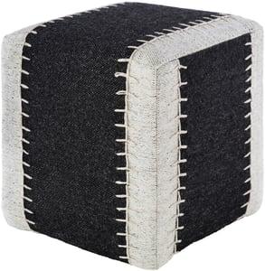 Black, White, Ivory (NKPF-001) Niko Pouf 23917 Solid Poufs