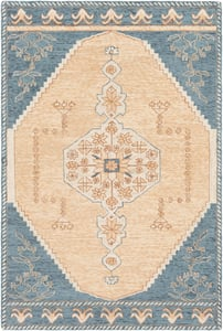 Peach, Camel, Blue (URF-2301) Urfa 26543 Bohemian Area Rugs
