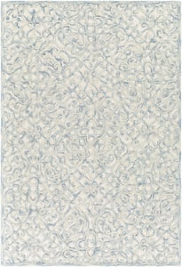 Light Blue, Dark Blue, Cream (EGC-2300) Elegance 27007 Traditional / Oriental Area Rugs