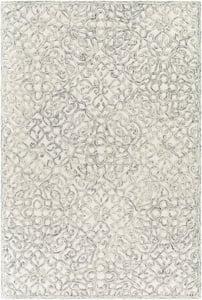 Light Grey, Charcoal, Cream (EGC-2302) Elegance 27007 Traditional / Oriental Area Rugs