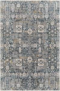 Teal, Medium Grey, Ivory (CDF-2309) Cardiff 27347 Traditional / Oriental Area Rugs