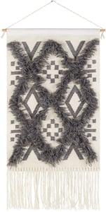 Charcoal, Ivory (HNA-1003) Helena 29507 Bohemian Wall Hangings