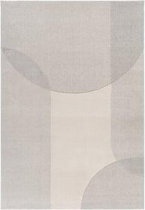 Beige, Light Grey, Taupe (XUF-1003) Flux 26994 Geometric Area Rugs