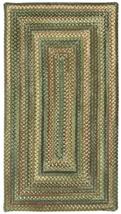 Green Eaton Braided Country Area Rugs