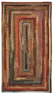 Red Eaton Braided Country Area Rugs