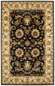 Brilliant Black Guilded Hand Tufted Traditional / Oriental Area Rugs