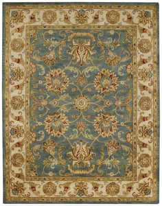 Bombay Blue Guilded Hand Tufted Traditional / Oriental Area Rugs
