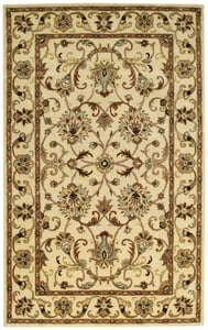 Antique Ivory Guilded Hand Tufted Traditional / Oriental Area Rugs