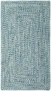 Ocean Blue Sea Pottery Concentric Country Area Rugs