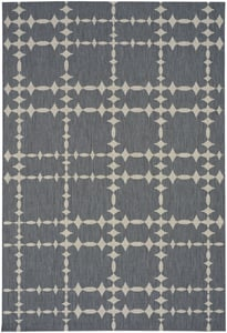 Coal Cococozy - Elsinore Tower Court Tower Court Contemporary / Modern Area Rugs