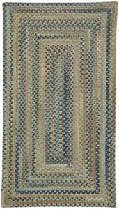 Green Tooele - Braided Braided Country Area Rugs