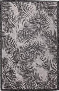 Black (8474-48) Carmel Fronds Floral / Botanical Area Rugs