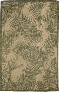 Green (8474-06) Carmel Fronds Floral / Botanical Area Rugs