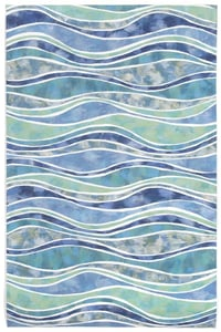 Ocean (3126-04) Visions IV Wave Contemporary / Modern Area Rugs