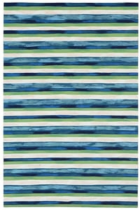 Cool (4313-03) Visions II Painted Stripes Striped Area Rugs