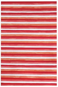 Warm (4313-24) Visions II Painted Stripes Striped Area Rugs