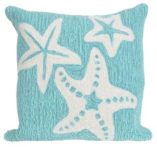 Aqua (1667-04) Front Porch Pillow Starfish Beach / Nautical Pillow