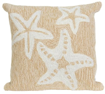 Neutral (1667-12) Front Porch Pillow Starfish Beach / Nautical Pillow