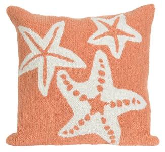 Coral (1667-18) Front Porch Pillow Starfish Beach / Nautical Pillow